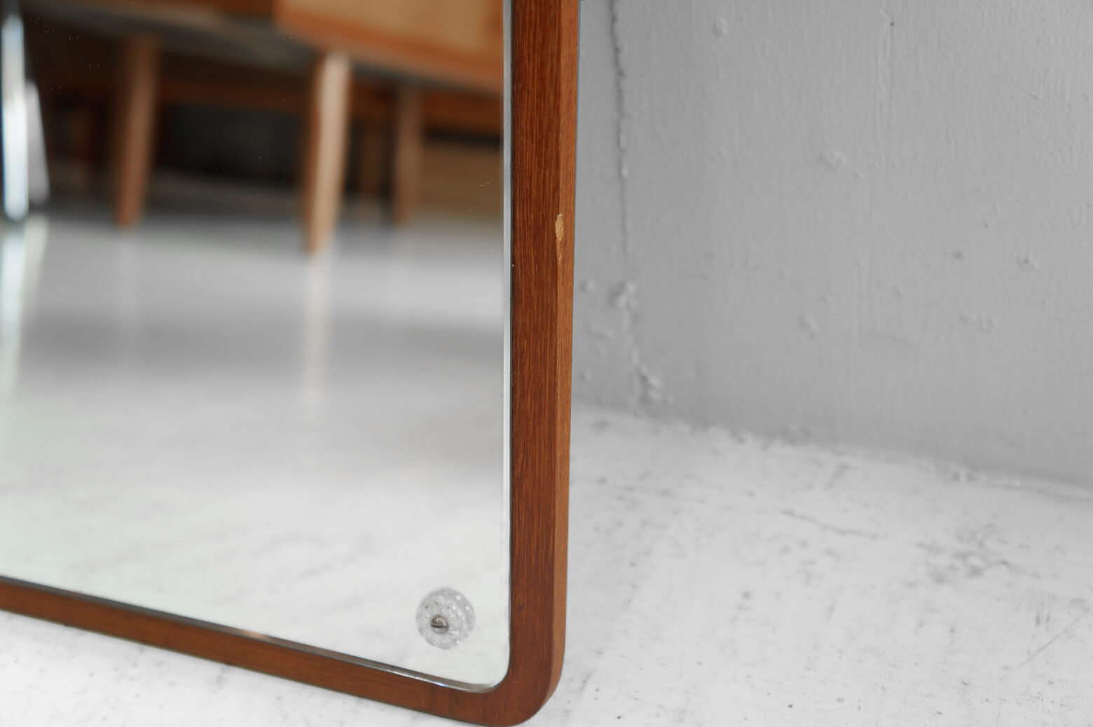 Danish Vintage Teakwood Wall Mirror/デンマーク ヴィンテージ チーク材 ウォールミラー
