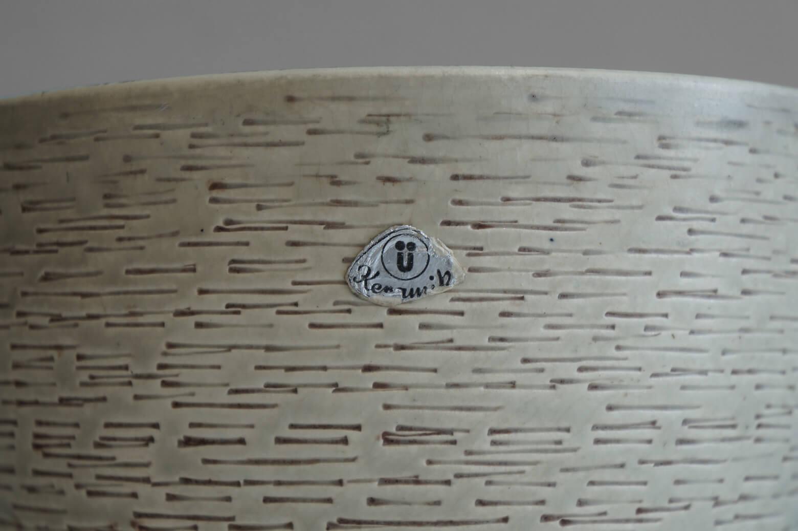 West Germany Ü Keramik Vintage Flower Pot/西ドイツ Ü ケラミック ヴィンテージ 植木鉢カバー ポット