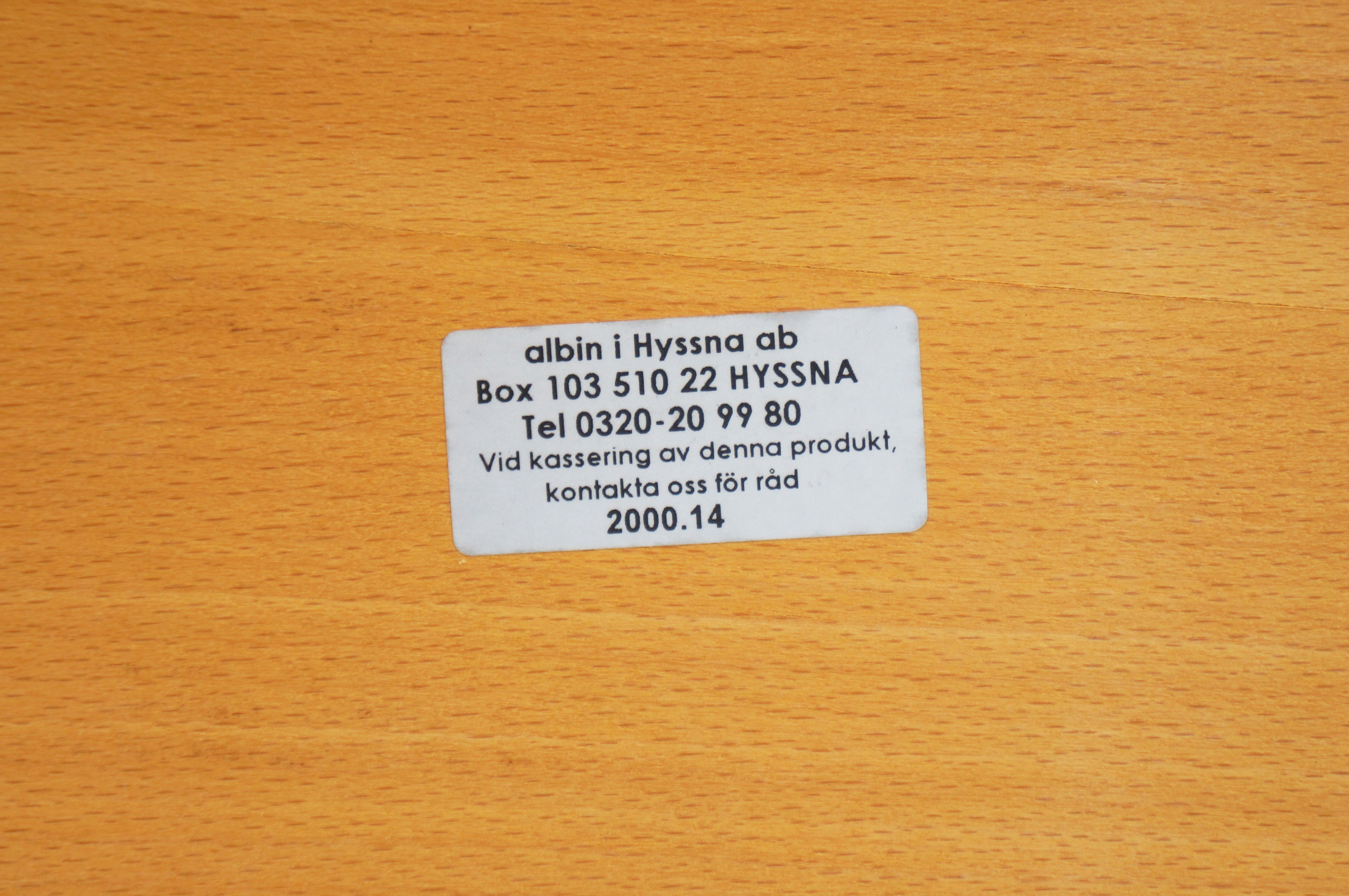 Albin i Hyssna ab Sofa Table made in Sweden/Albin i Hyssna ab ソファテーブル スウェーデン