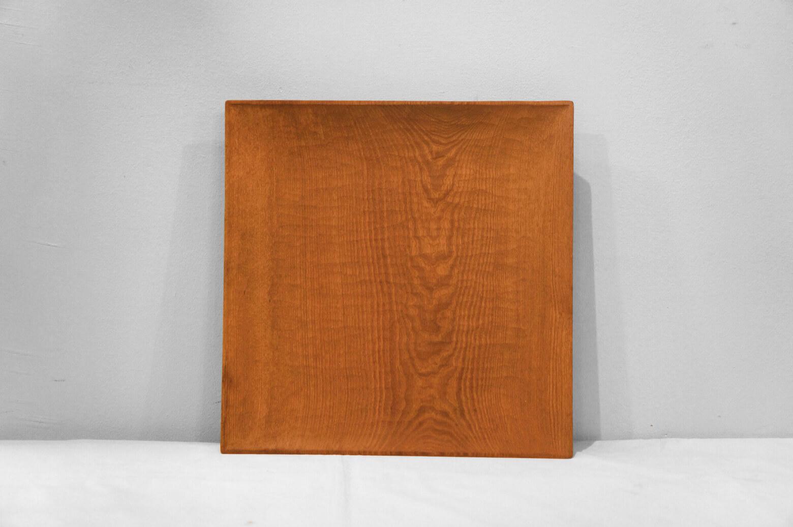 Ryuji Mitani Square Wooden Plate/三谷龍二 四方皿