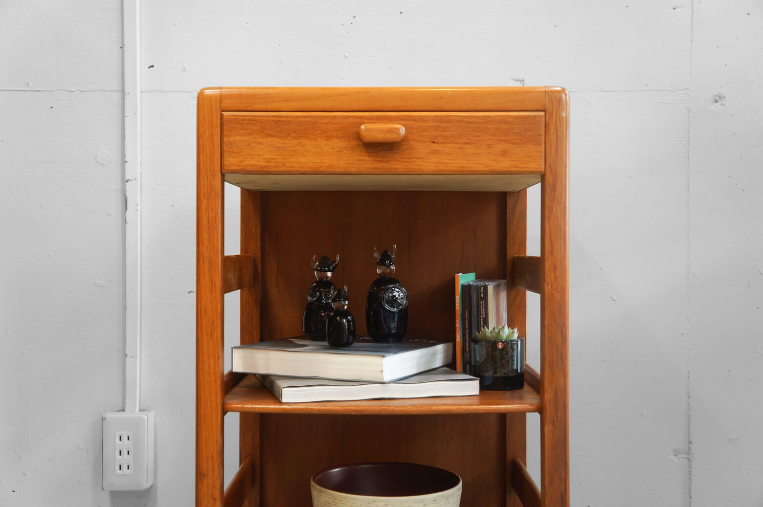 Japan Vintage Teakwood Side Shelf/日本製 ヴィンテージ チーク材 サイドシェルフ