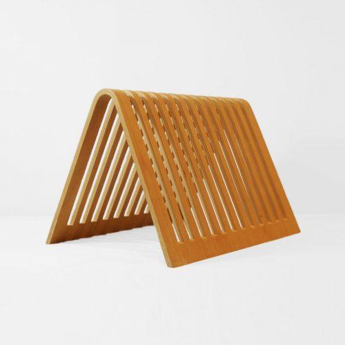 Scandinavian Vintage Plywood Magazine Rack/北欧 ヴィンテージ プライウッド マガジンラック