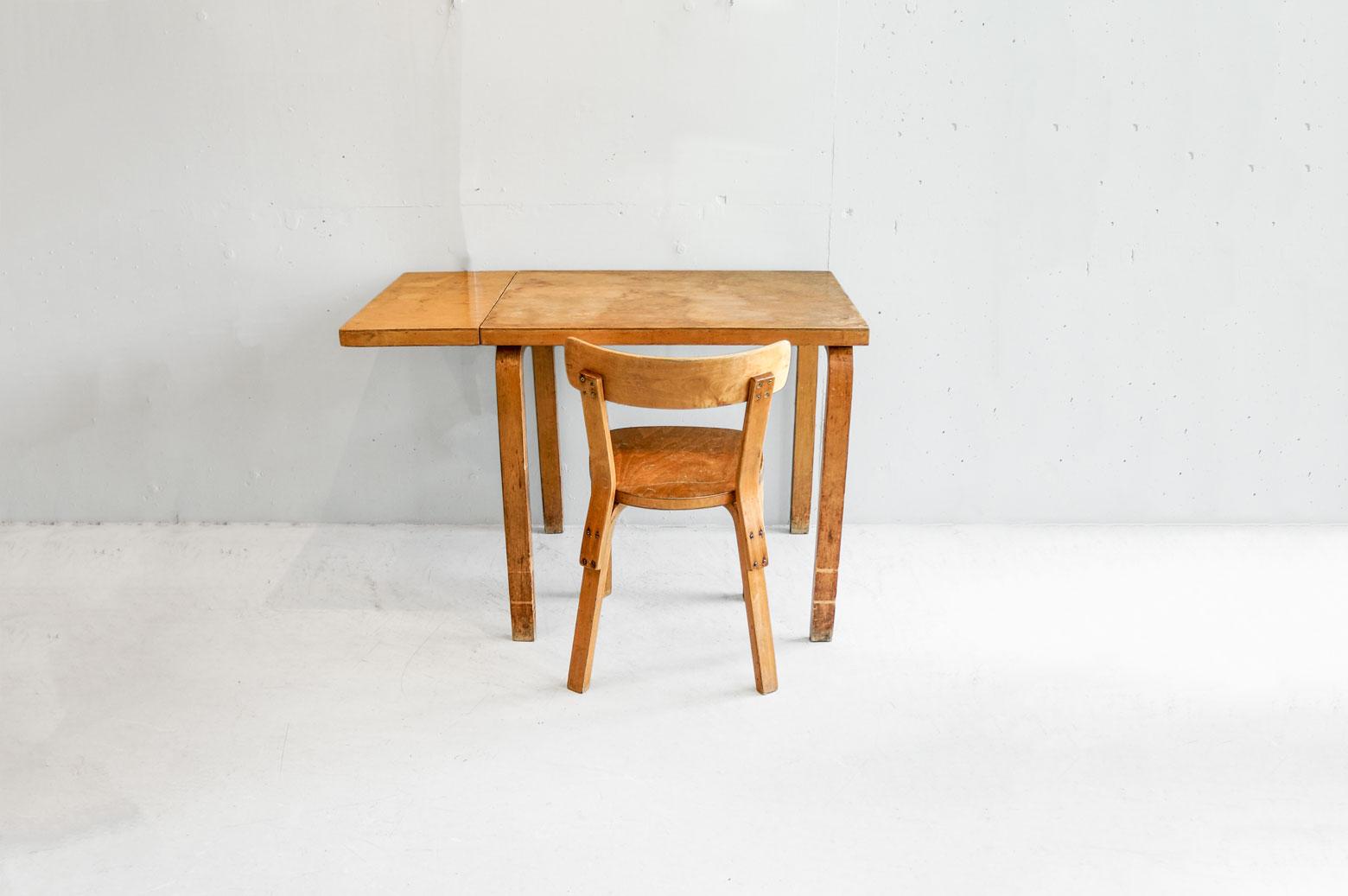 Vintage artek Alvar Aalto Extension Table Chair No.69 set/ヴィンテージ アルテック アルヴァ・アアルト エクステンション テーブル チェアNo.69 セット
