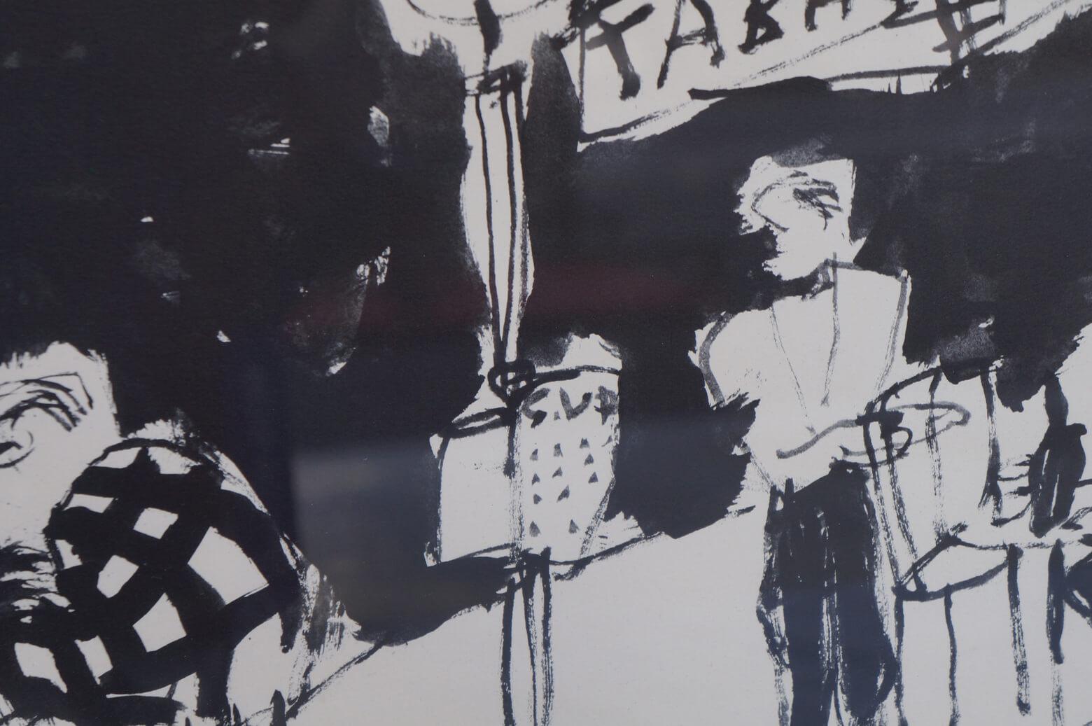 Shiguejiro Sano Lithograph/佐野繁次郎 リトグラフ 「パリの四季・秋」