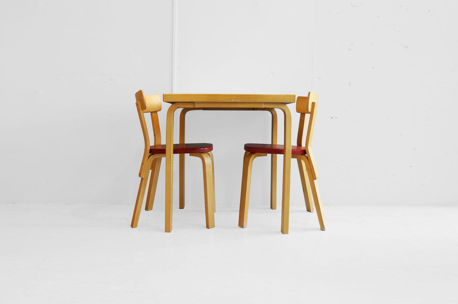 Vintage artek Alvar Aalto Dining Table Chair No.69 set/ヴィンテージ アルテック アルヴァ・アアルト ダイニングテーブル チェアNo.69 セット