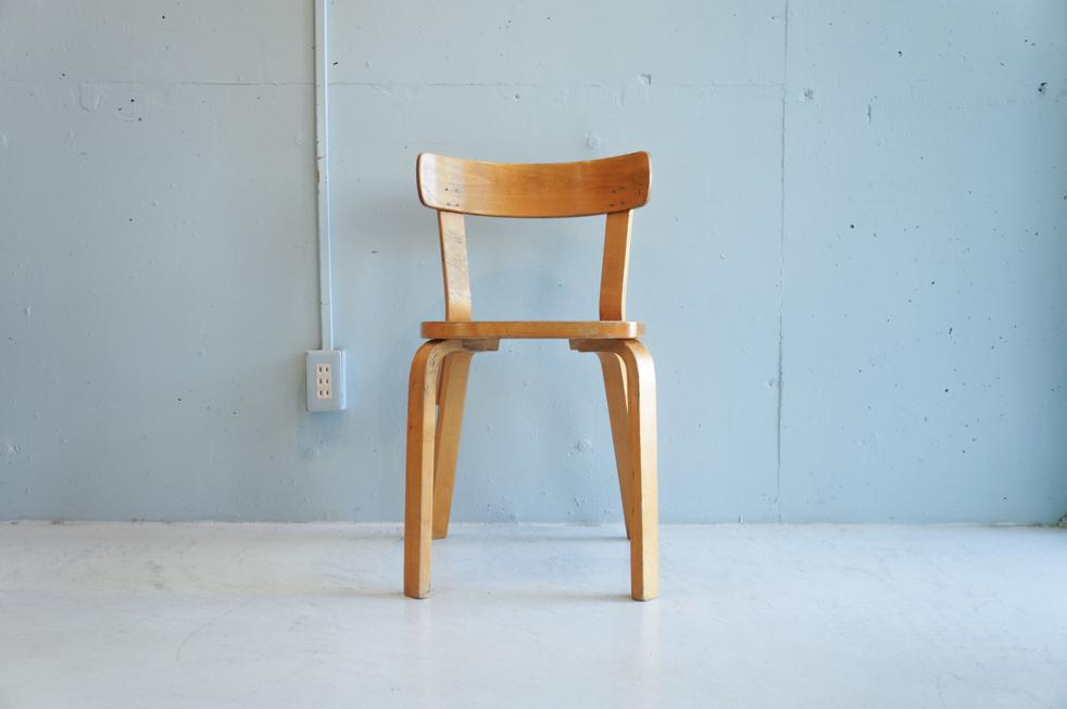 Vintage artek Alvar Aalto Extension Table Chair No.69 set/ヴィンテージ アルテック アルヴァ・アアルト エクステンション テーブル チェアNo.69 セット【東京都杉並区阿佐ヶ谷北ビンテージショップFURUICHI 古一】