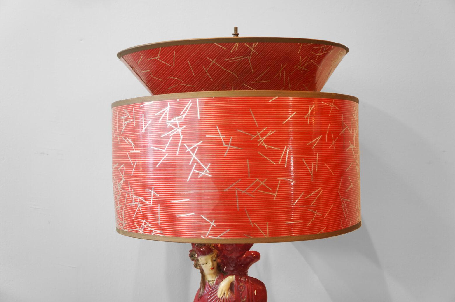 US Vintage Chalkware Table Lamp/アメリカ ヴィンテージ チョークウェア テーブルランプ