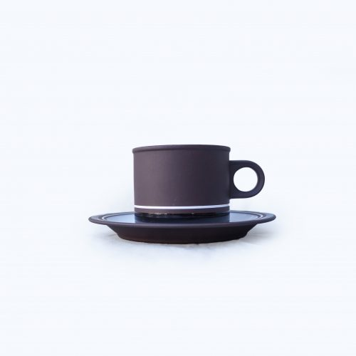 "UK Vintage HORNSEA ""Contrast"" Cup and Saucer/イギリス ヴィンテージ ホーンジー ""コントラスト"" カップ&ソーサー"