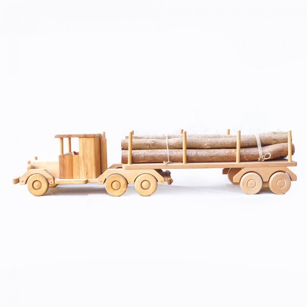 Scandinavian Wooden Toy Tractor/北欧 木のおもちゃ トラクター