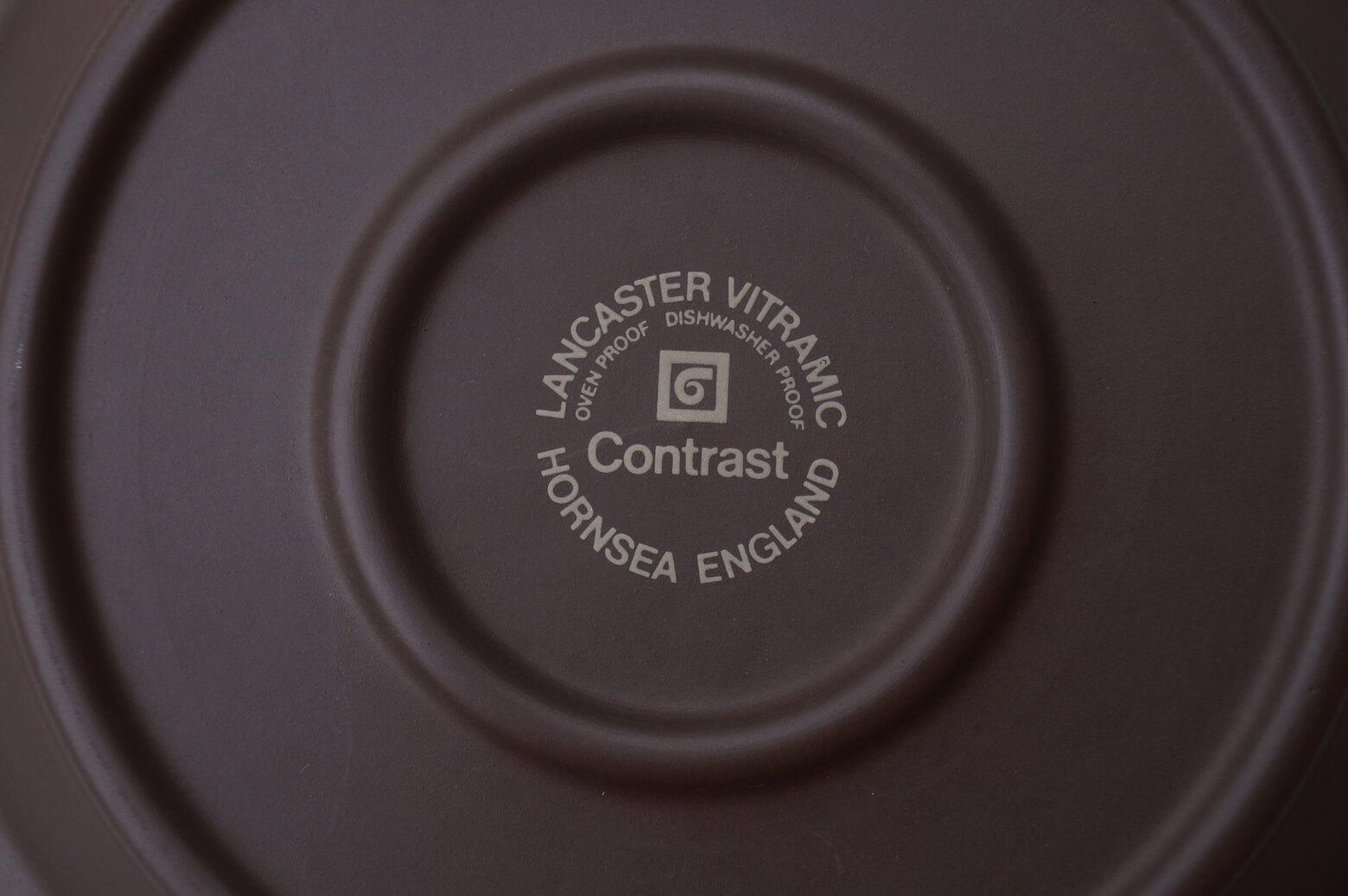"UK Vintage HORNSEA ""Contrast"" Cake Plate/イギリス ヴィンテージ ホーンジー ""コントラスト"" ケーキプレート"