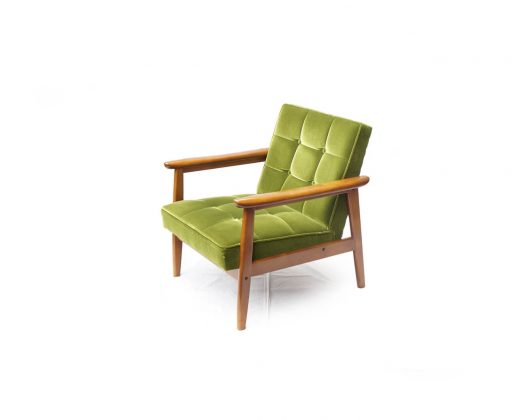 Karimoku60 K Chair 1Seater Moquette Green/カリモク60 Kチェア 1シーター モケットグリーン