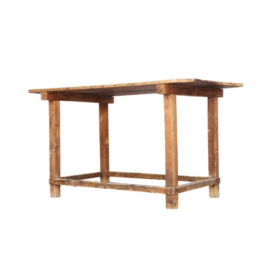 JAPAN VINTAGE WORK ATLIER TABLE OLD MATERIALS / ジャパン ビンテージ 作業台 アトリエ テーブル 古材