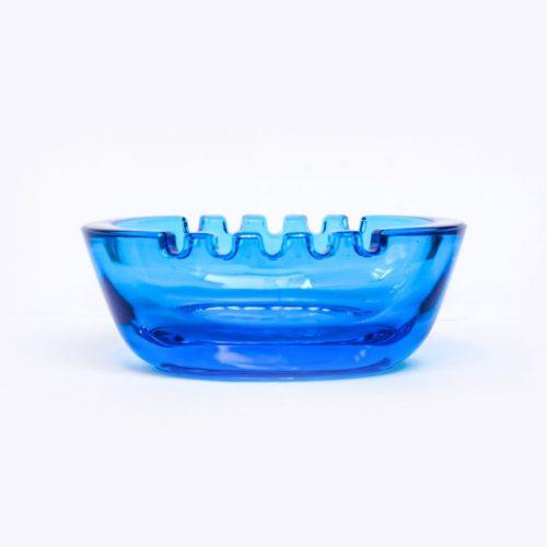 Nuutajärvi Ash Tray/ヌータヤルヴィ アッシュトレイ スタディオン ブルー 灰皿 ボウル 北欧 雑貨 サーラ・ホペア デザイン1