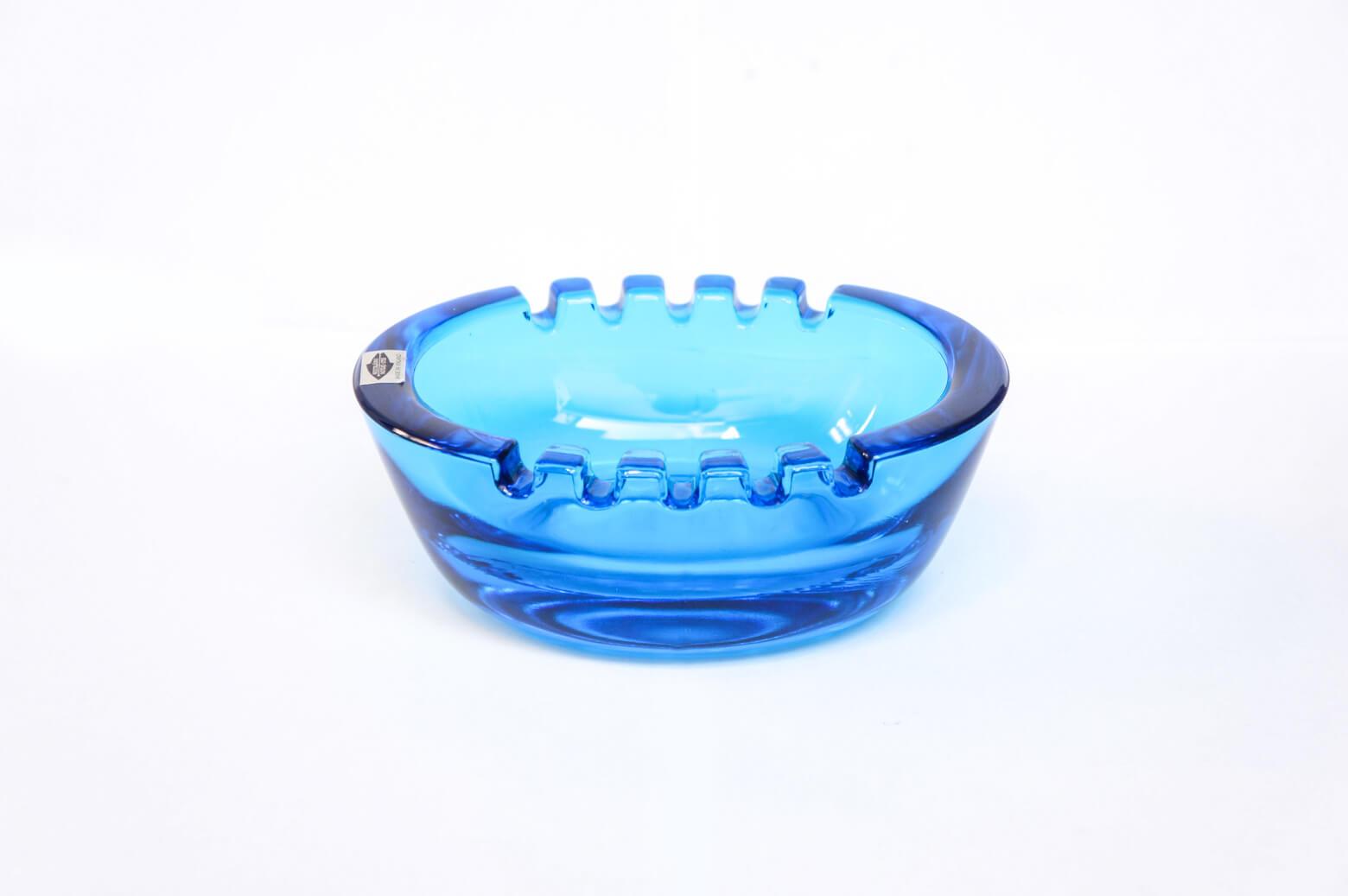Nuutajärvi Ash Tray/ヌータヤルヴィ アッシュトレイ スタディオン ブルー 灰皿 ボウル 北欧 雑貨 サーラ・ホペア デザイン2
