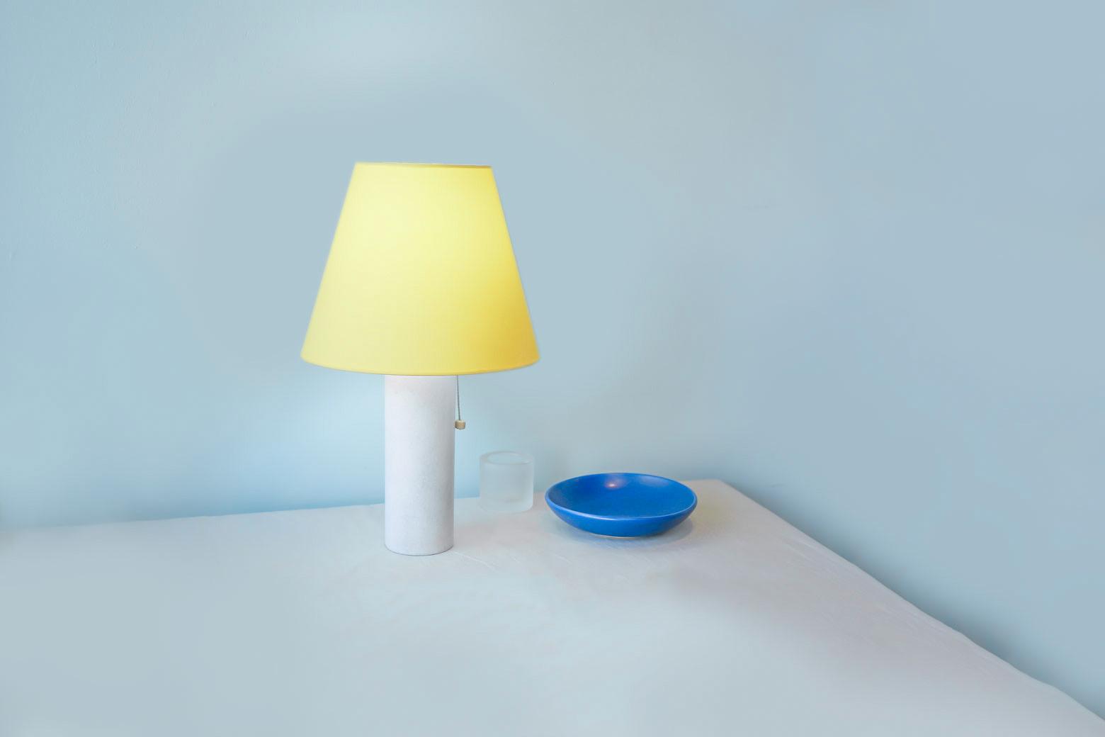 Marble Vase Table Lamp/大理石 テーブル ランプ イエロー