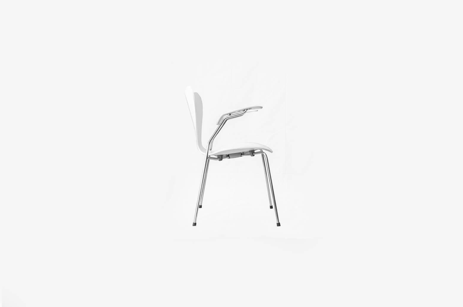 Fritz Hansen Series7 Armchair/フリッツハンセン セブンチェア アーム付き ホワイト 北欧 家具 椅子 3