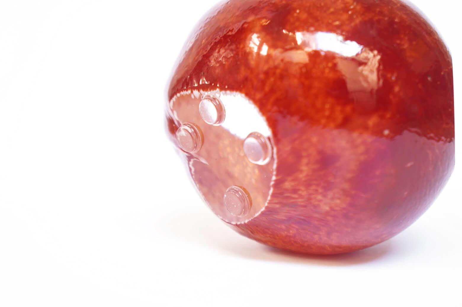 """iittala """"kuukivi"""" glass art object/イッタラ ガラス オブジェ ペーパーウェイト レッド 北欧 雑貨"""