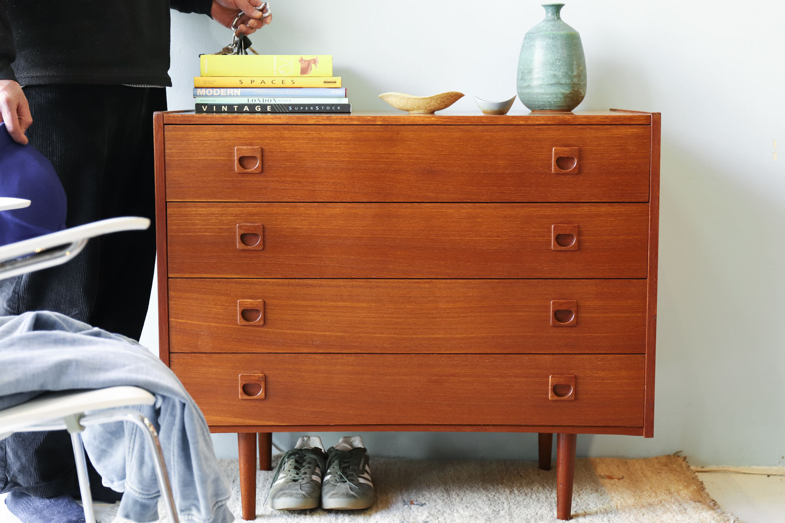 Danish Vintage Chest/デンマーク ヴィンテージ チェスト 4段 チーク材 北欧 家具