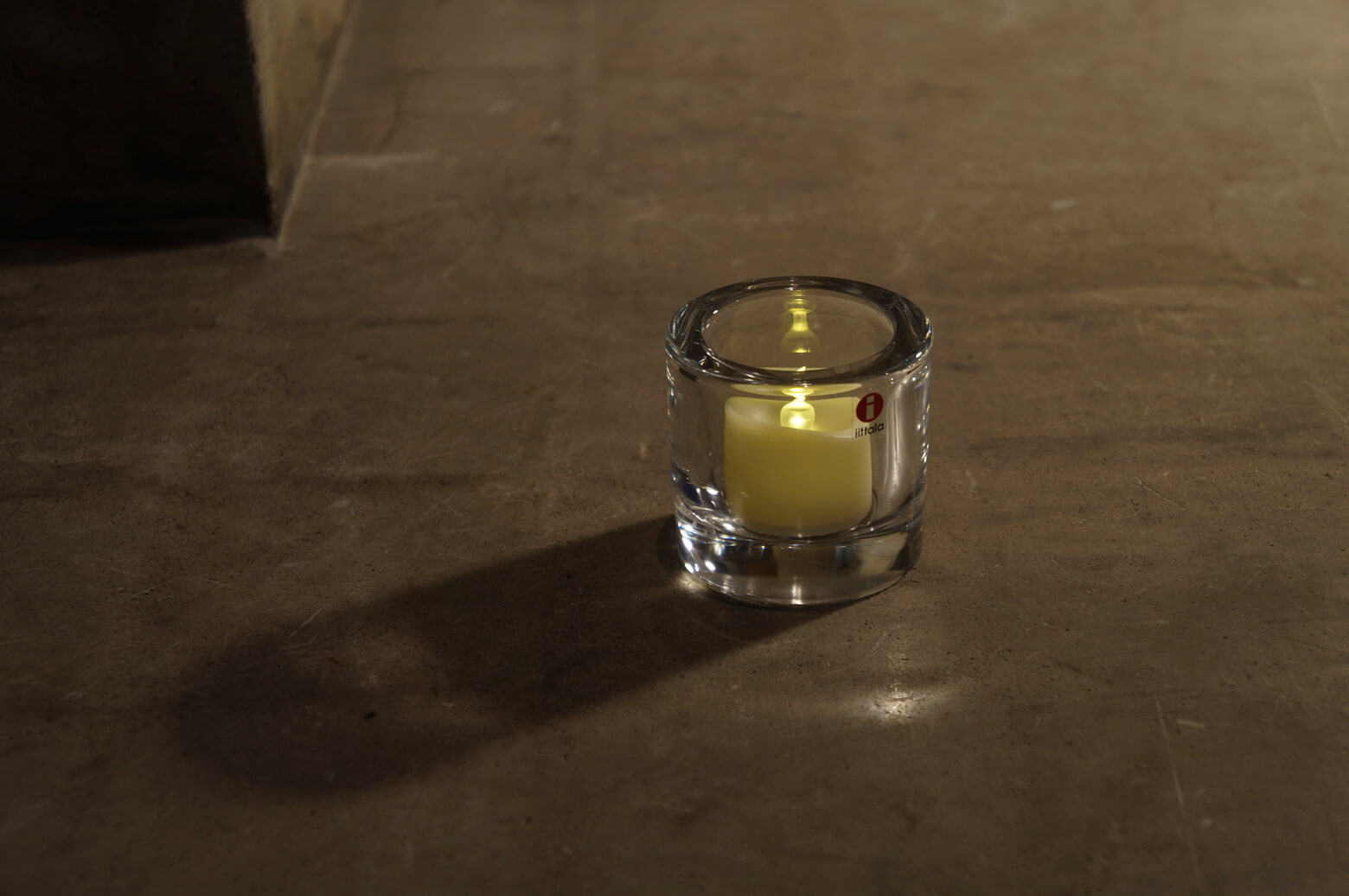 iittala × marimekko Candle Holder Kivi Clear / イッタラ マリメッコ コラボ キャンドル ホルダー キビ クリア