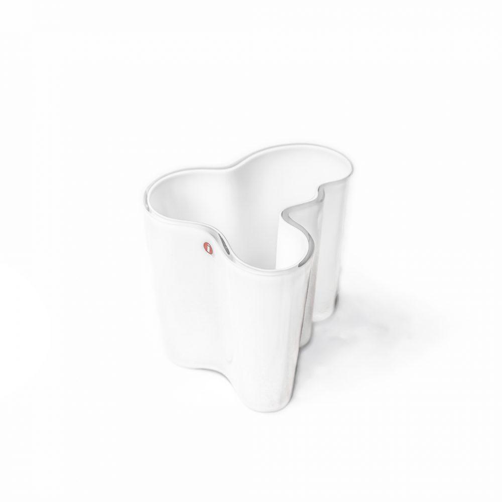 イッタラ アルヴァ・アアルト コレクション ベース ホワイト 北欧 花瓶 ヴィンテージ / IITTALA ALVAR AALTO 95mm