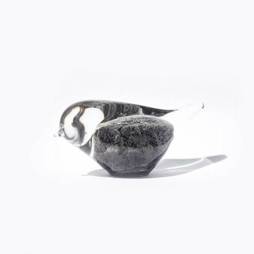 Randsfjord Glass Bird Object designed by Benny Motzfeldt/ランズフィオルド グラスベルグ ガラス 鳥のオブジェ ベンニー・モルツフェルト ノルウェー 北欧雑貨 ブラック