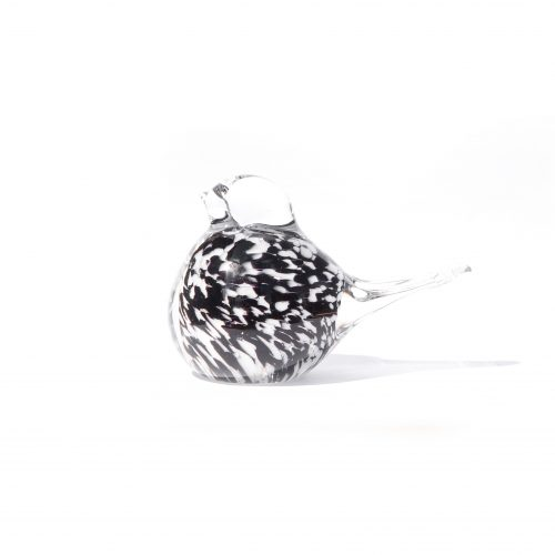 Scandinavian Vintage Glass Small Bird/北欧ヴィンテージ ガラス 小さな鳥 オブジェ インテリア ブラック