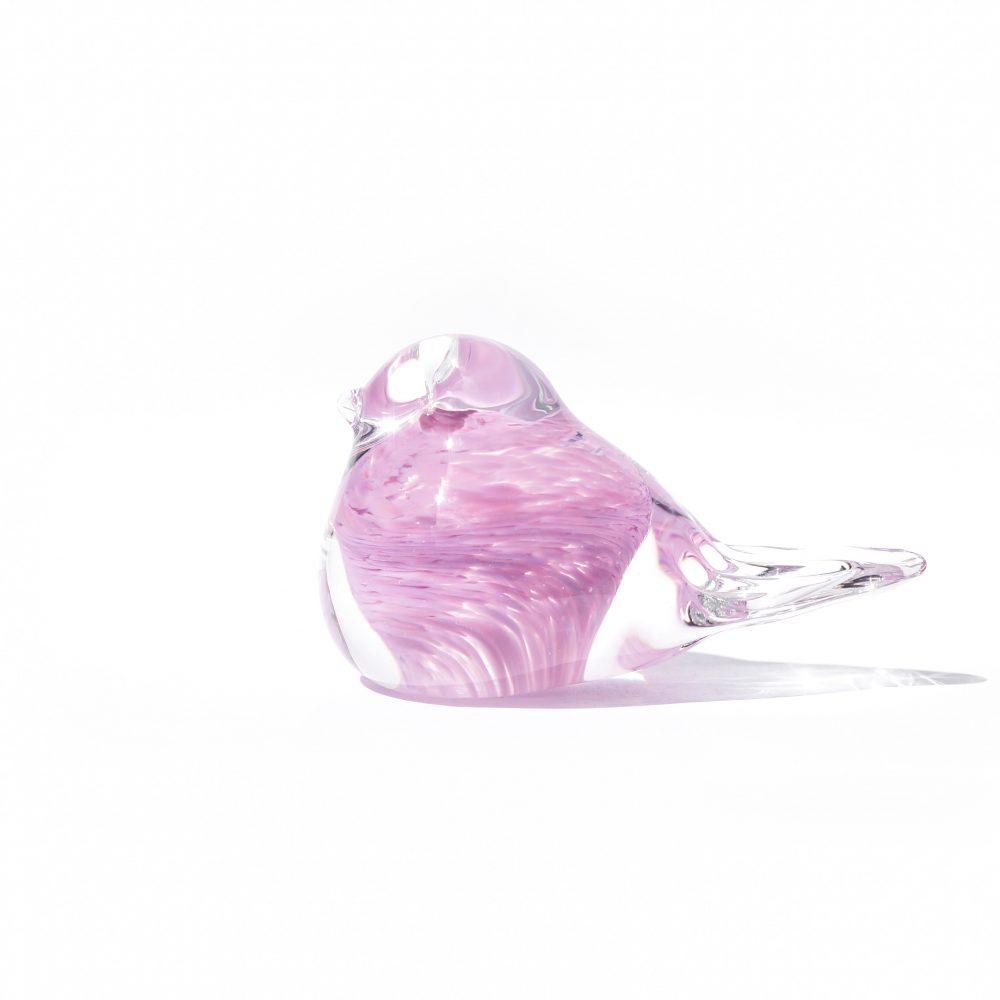 Scandinavian Vintage Glass Small Bird/北欧ヴィンテージ ガラス 小さな鳥 オブジェ インテリア ピンク
