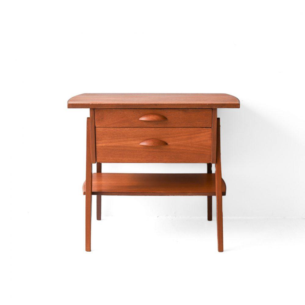 Danish Vintage Side Chest Table/デンマーク ヴィンテージ サイドチェスト テーブル チーク材 北欧家具