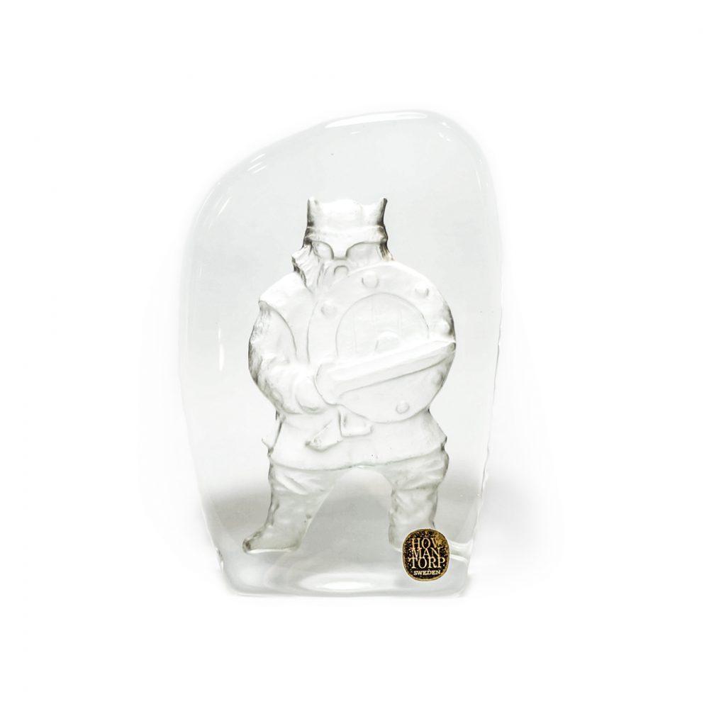 Hovmantorp Glass Paper Weight Viking/ガラス ペーパーウェイト ヴァイキング スウェーデン 北欧雑貨 ヴィンテージ