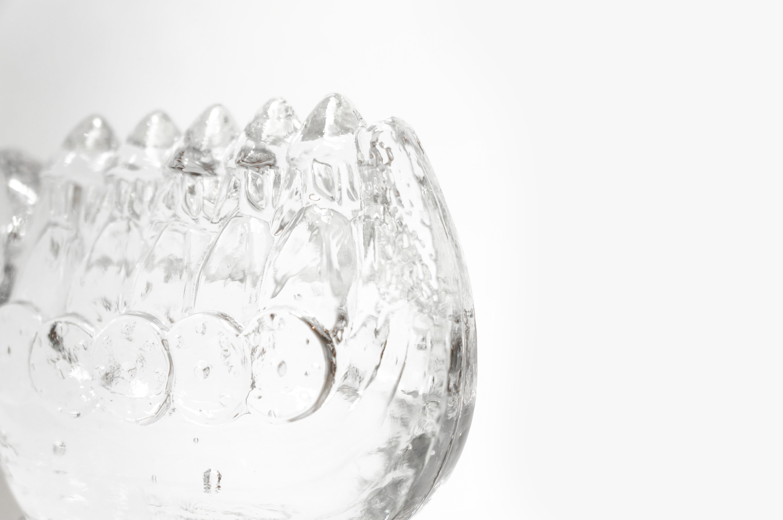 リンズハンマル ヴァイキング 船 ガラス オブジェ スウェーデン 北欧雑貨 ヴィンテージ/LINDSHAMMAR Viking Ship Glass Object