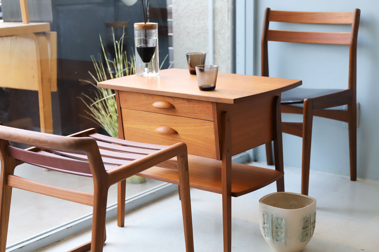 Danish Vintage Side Chest Table