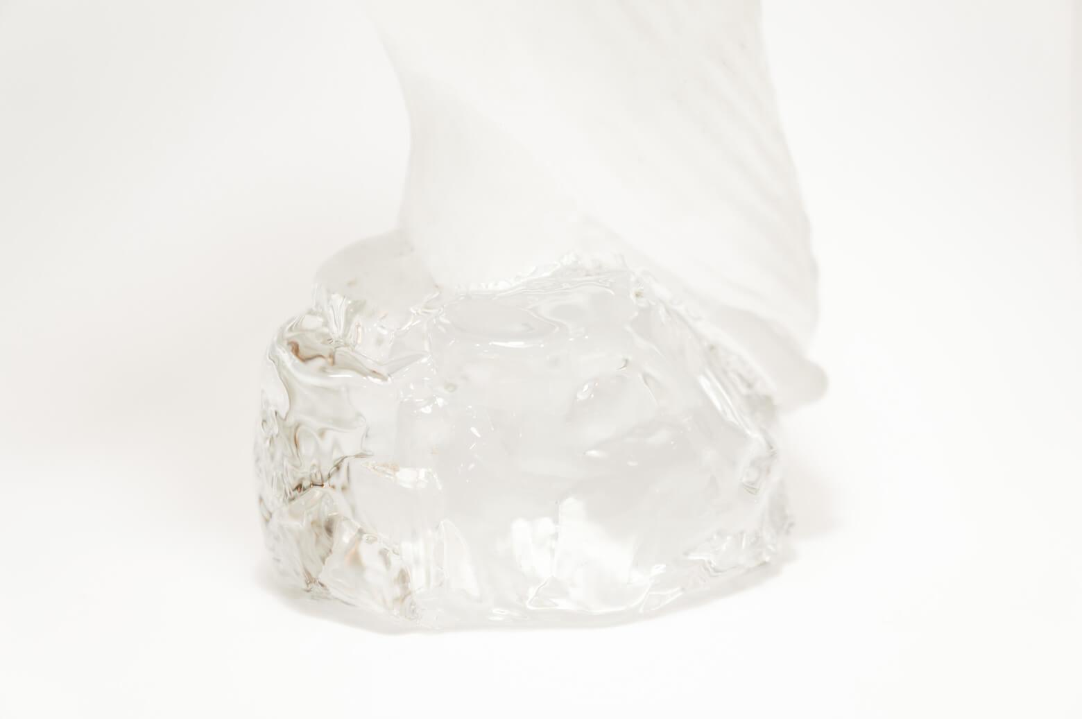 Scandinavian Glass Object Bird/ガラス オブジェ 鳥 北欧雑貨 ヴィンテージ