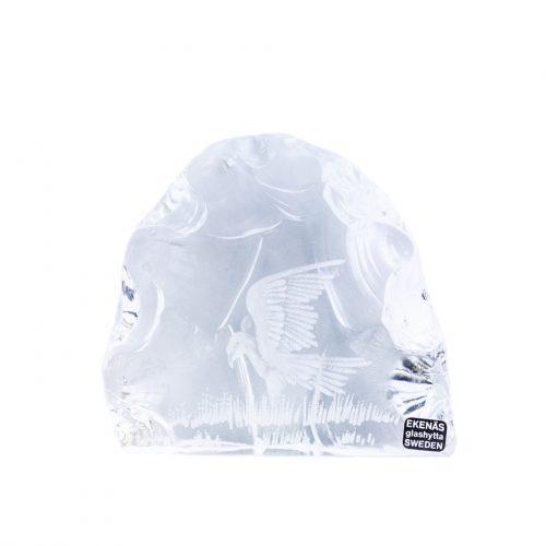 Ekenas Glashytta Glass Object Bird Tony Racov/ガラス オブジェ 鳥 スウェーデン 北欧雑貨 ヴィンテージ