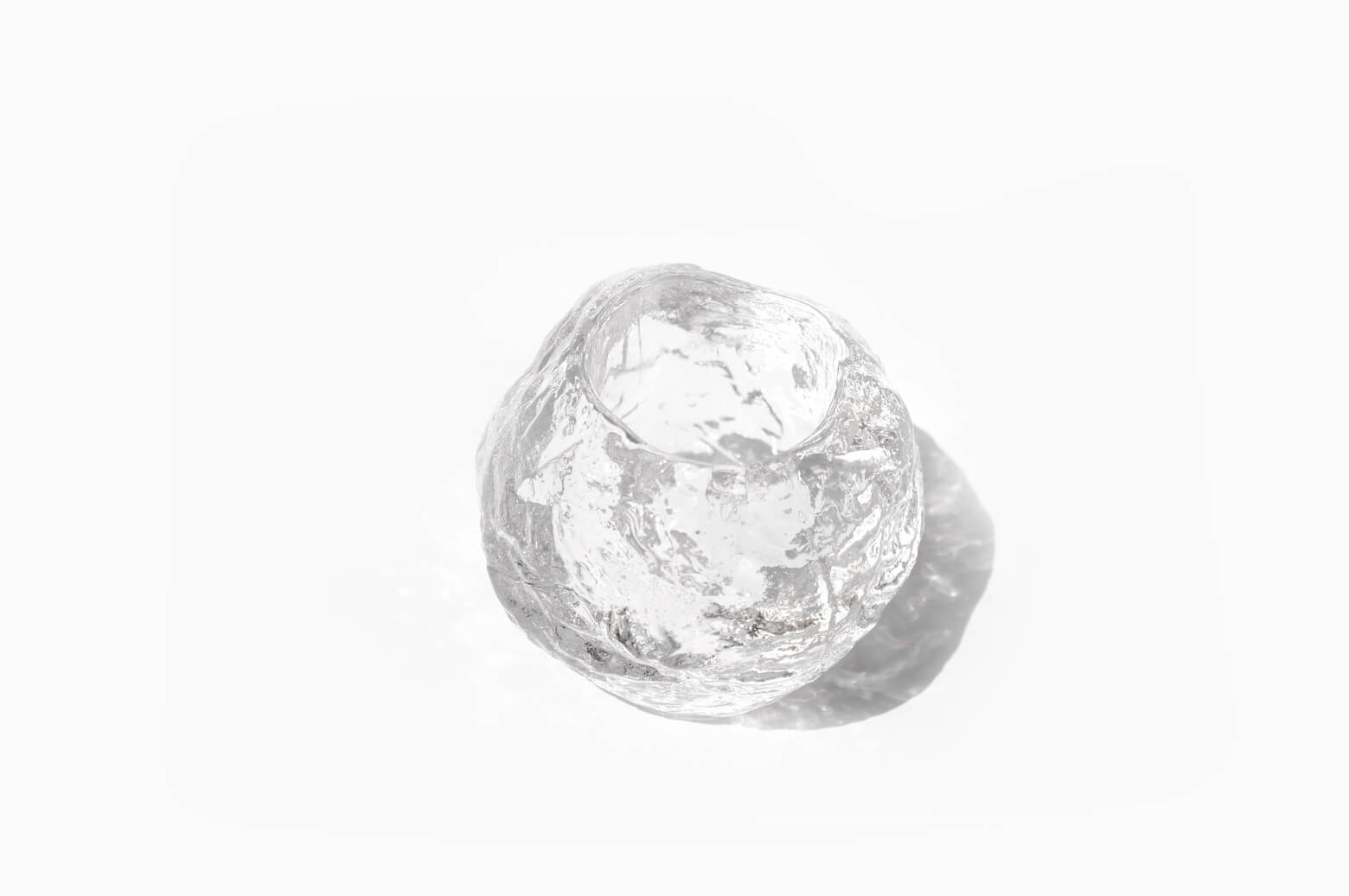 Kosta Boda Snow Ball Candle Holder Ann Wolff/コスタボダ キャンドルホルダー スノーボール アン・ウォルフ ガラス 北欧雑貨 Mサイズ
