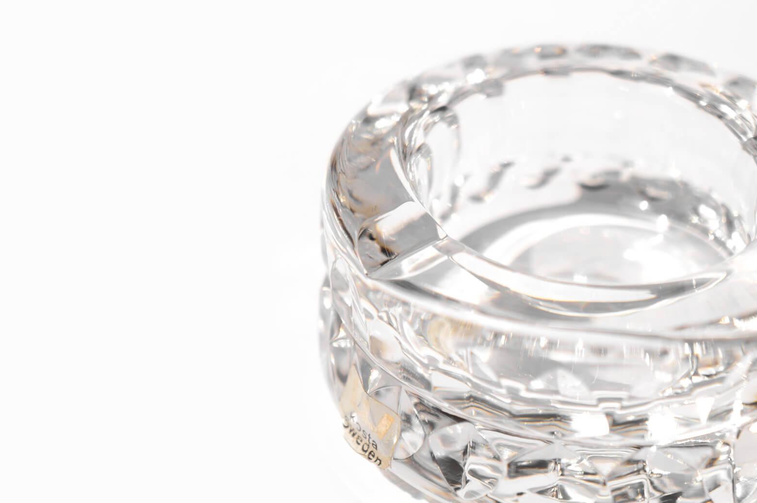 Kosta Sweden Ash Tray Goran Warff/コスタ スウェーデン アッシュトレイ ヨーラン・ヴァルフ クリスタルガラス 北欧雑貨 ヴィンテージ