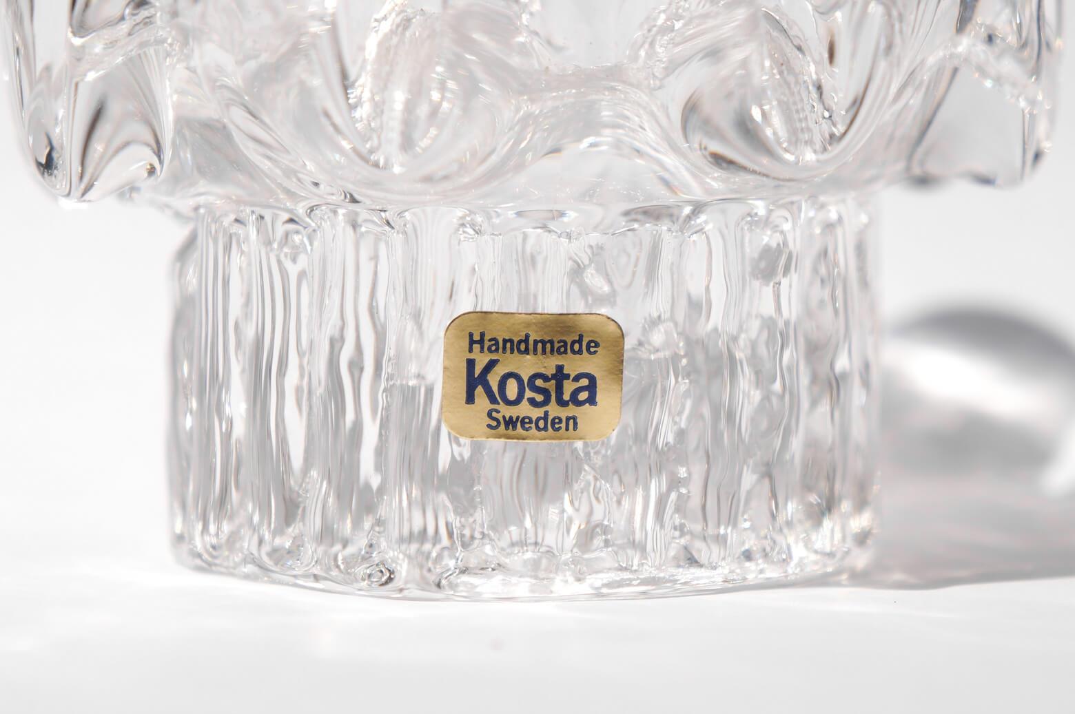 Kosta Sunflower Candle Holder Goran Warff/コスタ キャンドルホルダー サンフラワー ヨーラン・ヴァルフ ガラス 北欧雑貨