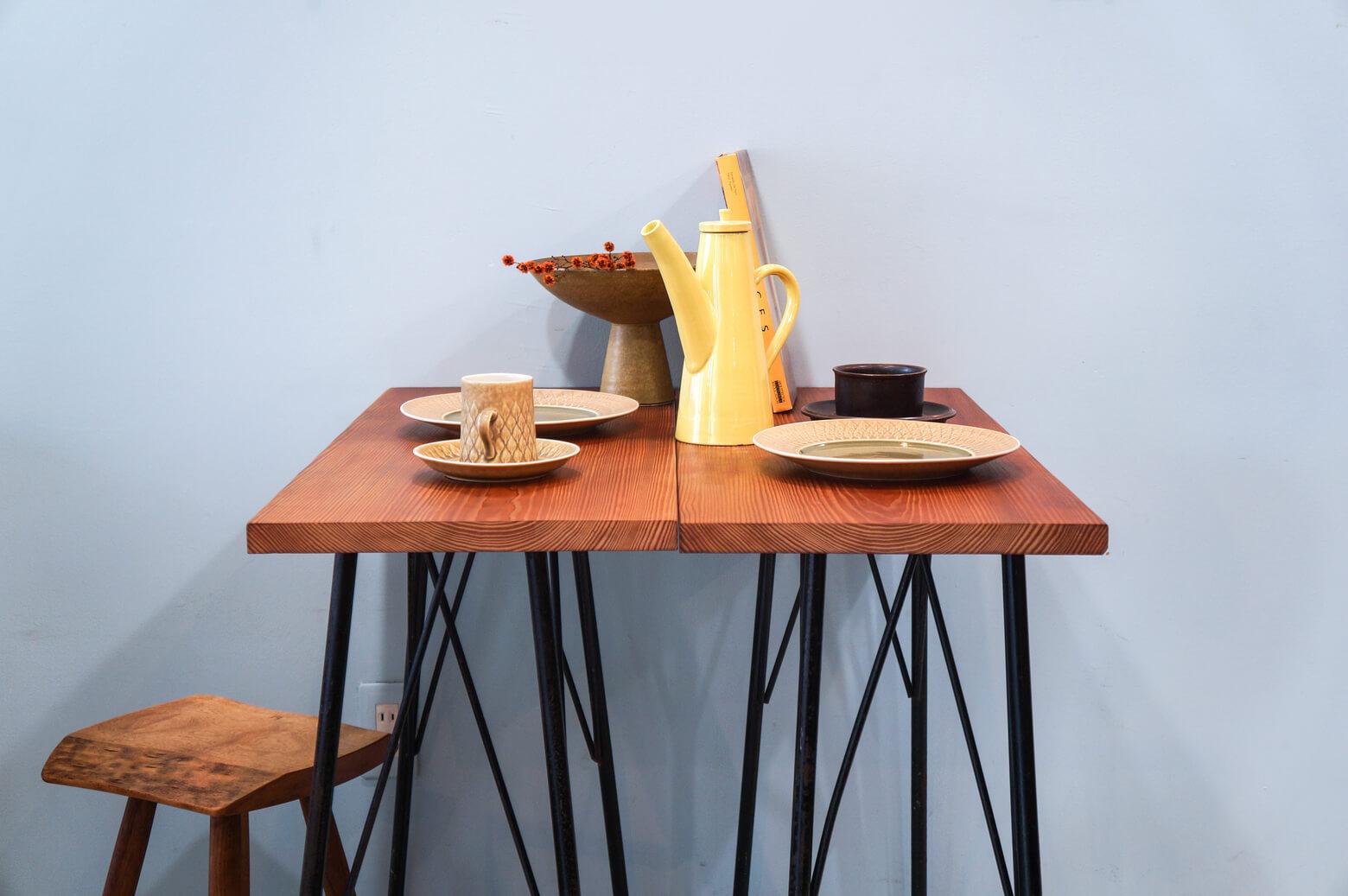 Solid wood Remake Table/無垢 一枚板 アイアンレッグテーブル 鉄脚 アンティーク インダストリアル