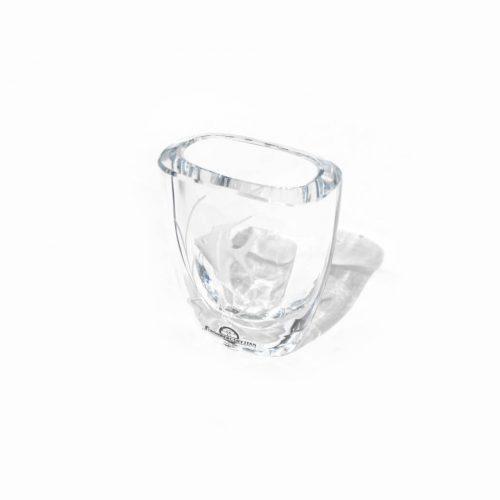 Strömbergshyttan Crystal Glass Vase Fish/スウェーデン ヴィンテージ クリスタルガラス ベース 魚 北欧雑貨