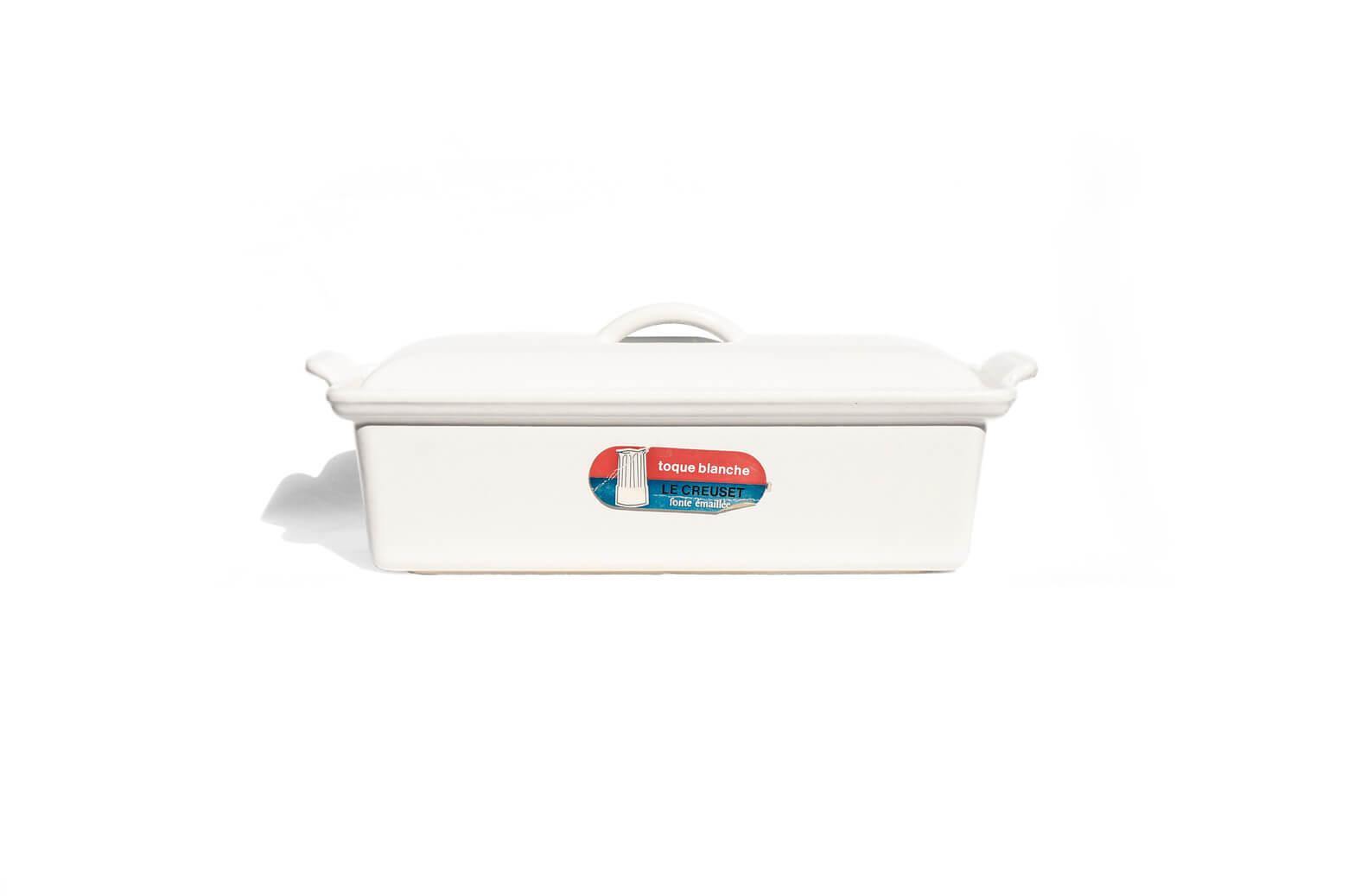 Le Creuset Terrine 28cm/ルクルーゼ テリーヌ レクタ ホワイト ヴィンテージ キッチン雑貨 廃盤