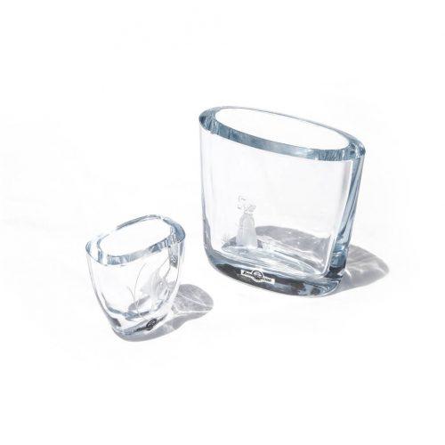Strömbergshyttan Crystal Glass Vase/スウェーデン ヴィンテージ クリスタルガラス ベース 北欧雑貨
