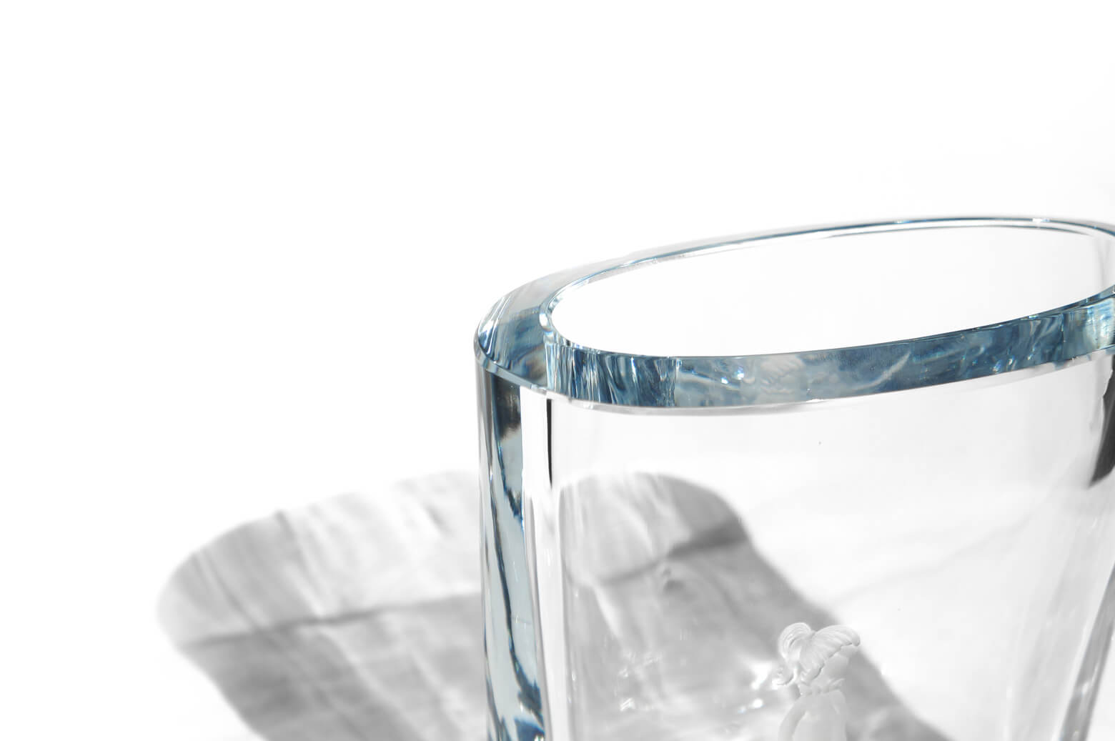 Strömbergshyttan Crystal Glass Vase Little Girl/スウェーデン ヴィンテージ クリスタルガラス ベース 小さな女の子 北欧雑貨