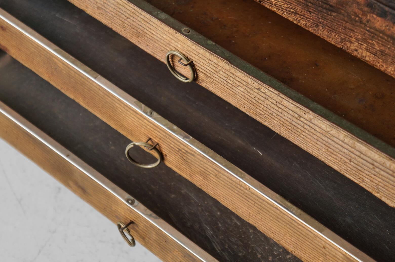 Engraving Work Desk/彫金机 袖なし 作業台 レトロ テーブル