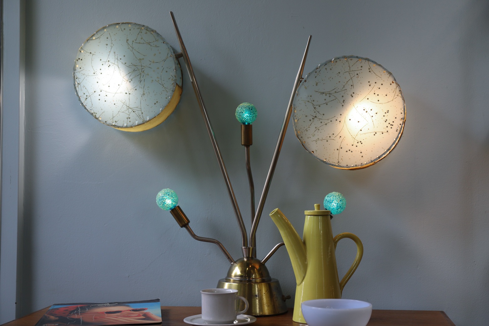US Vintage Atomic Table Lamp Mid-Century Space Age/アメリカ ヴィンテージ アトミック テーブルランプ 照明 スペースエイジ ミッドセンチュリ
