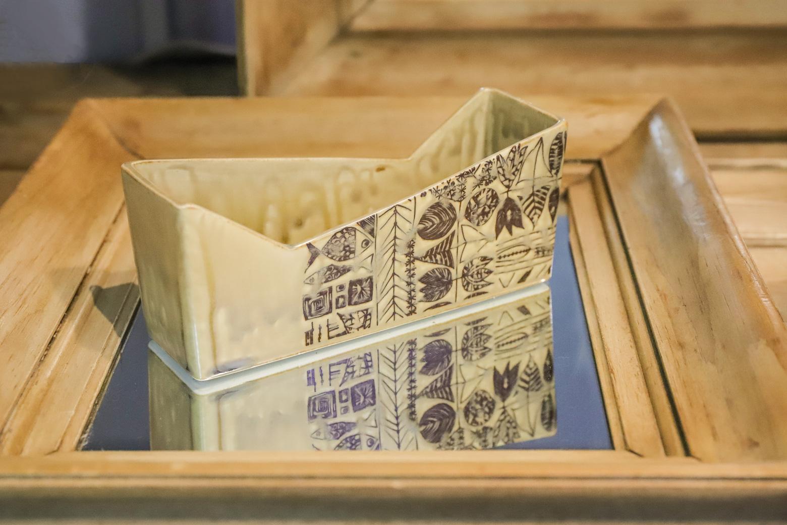 CHIZAN Flower Vase Japan Craft/知山陶苑 花器 安藤光一 ジャパン クラフト 陶芸 美濃焼