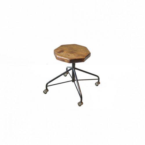 Antique wood Stool chair/古材 アイアンキャスターチェア スツール ニッソーハイモールド