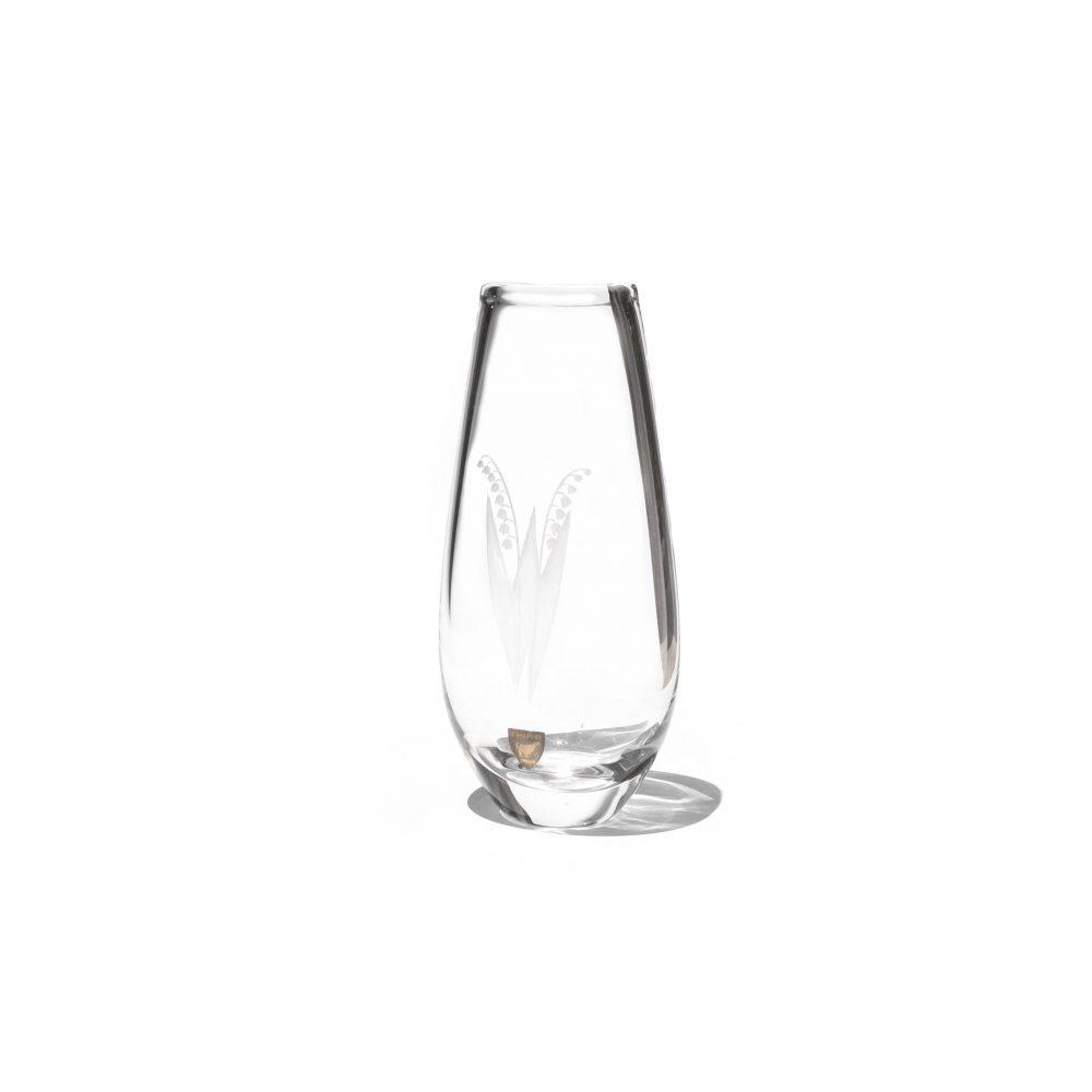 Orrefors Flower Vase designed by Sven Palmqvist/オレフォス フラワーベース スヴェン・パルムクヴィスト スウェーデンヴィンテージ ガラス 花瓶 北欧雑貨