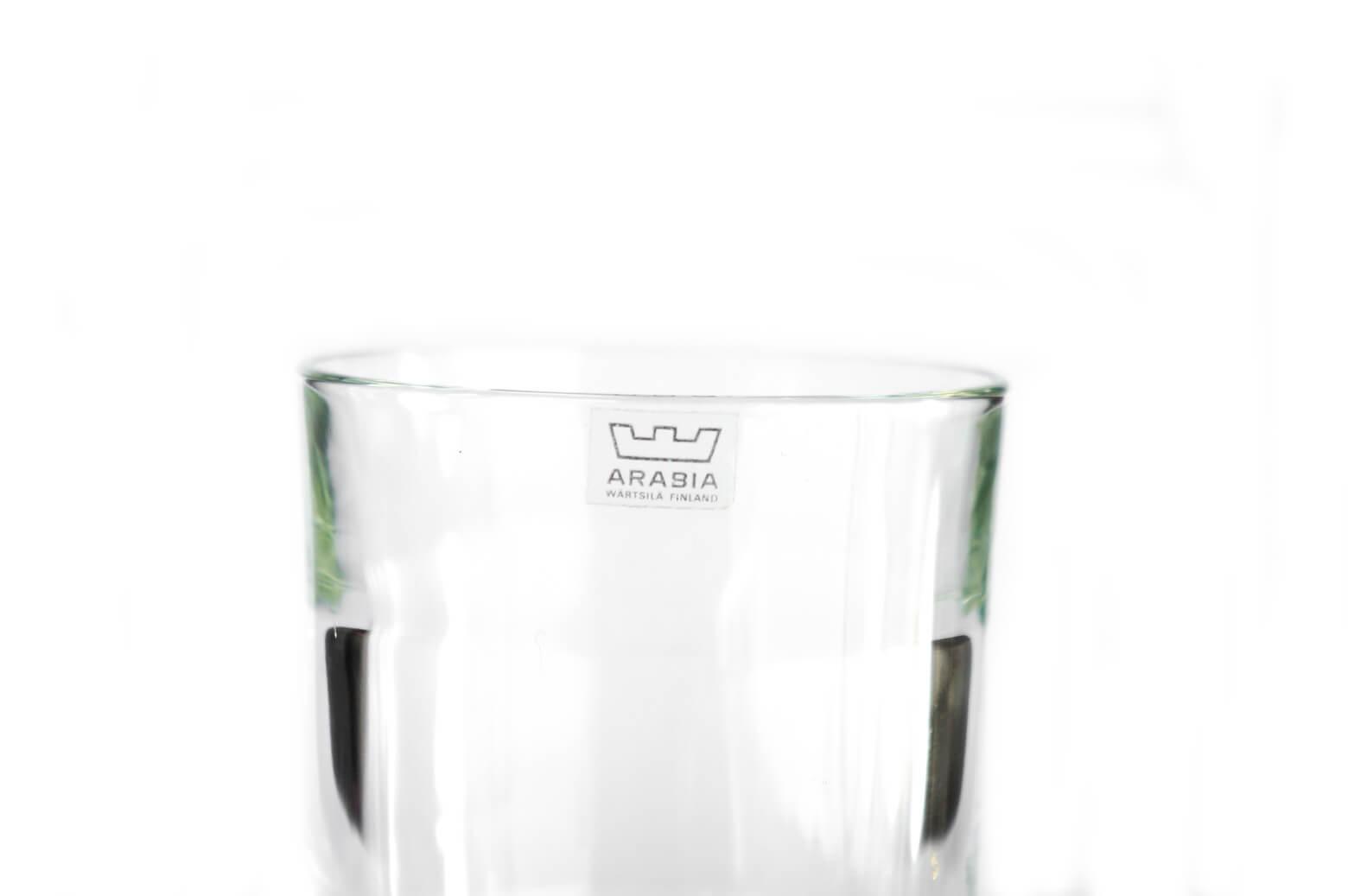ARABIA Tumbler PRISMA Kaj Franck/アラビア タンブラー プリズマ カイ・フランク グラス ヴィンテージ 北欧食器 1