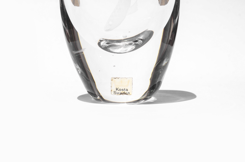 Kosta Flower Vase designed by Vicke Lindstrand/コスタ フラワーベース ヴィッケ・リンドストランド スウェーデンヴィンテージ ガラス 花瓶 北欧雑貨