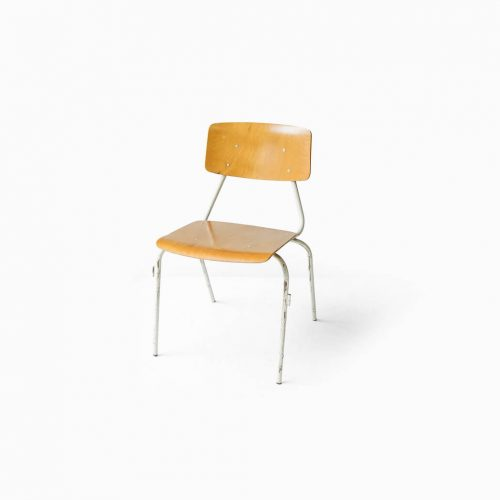 Netherlands Vintage School Chair/オランダ ヴィンテージ スクールチェア 学校 椅子 プライウッド インダストリアル デザイン