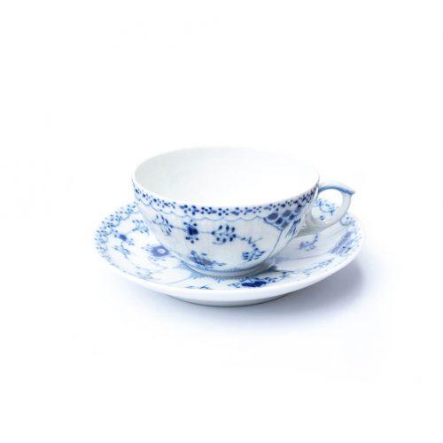 Royal Copenhagen Blue Fluted Half Lace Tea Cup and Saucer/ロイヤルコペンハーゲン ブルーフルーテッド ハーフレース ティーカップ&ソーサー 北欧食器